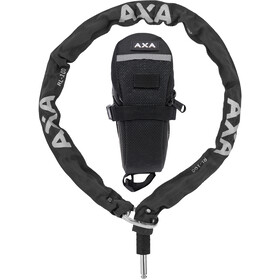 Axa RLC Kæde til Defender 100cm + sikkerhedstaske, black